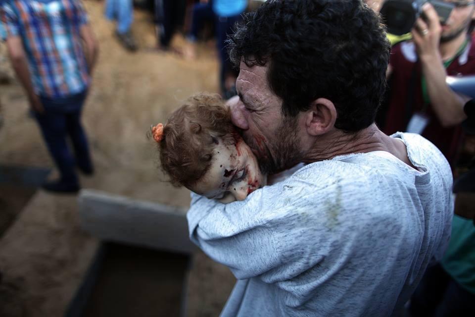 استشهاد رضيعة بغزة