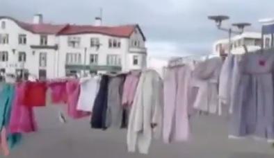 شاهد الحدث( فيديو) : من أيسلندا  توثيق شهداء غزة بطريقة مبدعة