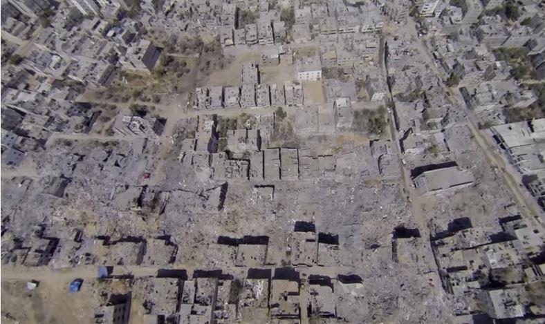 شاهد الحدث: تصوير جوي عالي الدقة يبين حجم الدمار في غزة