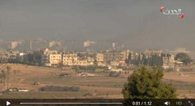 شاهد الحدث:كيف دمرت إسرائيل حياً كاملاً ببيت حانون خلال دقائق