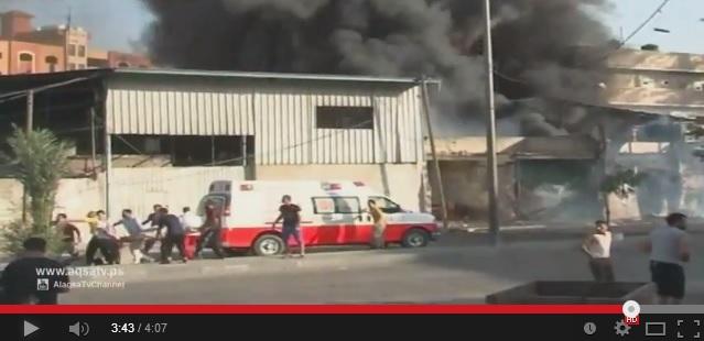 شاهد الحدث فيديو: مجزرة سوق الشجاعية 17 شهيد وأكثر من 200 اصابة  +18