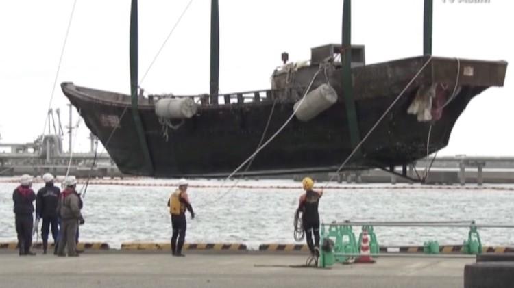 بالفيديو.. اليابان تعثر على عدة سفن محملة بالجثث