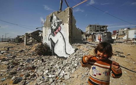 الفنان البريطاني بانكسي يصور بؤس غزة في فيلم قصير-فيديو