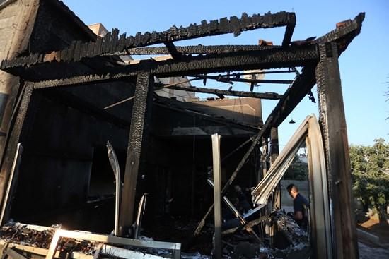 استشهاد رضيع عمره عام ,إثر حرق مستوطنين منزله قرب نابلس
