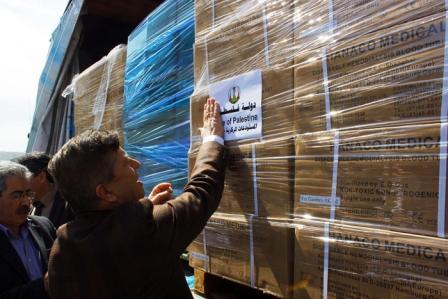 الصحة: شحنة أدوية لغزة بقيمة مليوني شيقل