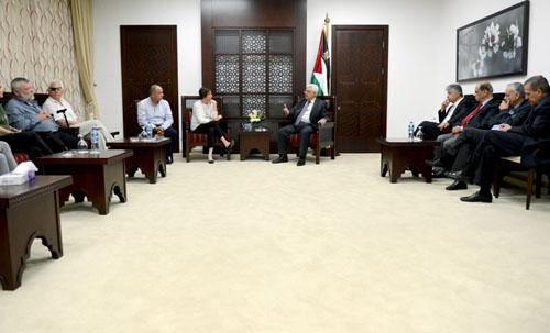 الرئيس لوفد إسرائيلي: