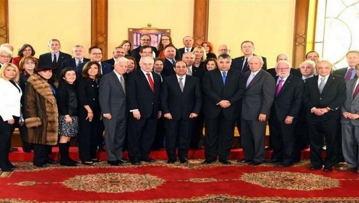 السيسي يجتمع بزعماء يهود أميركيين في قصر القبة