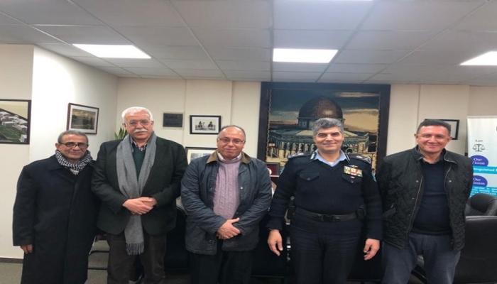 اللواء حازم عطا الله يبحث سبل التعاون المشترك مع مدير شركة كهرباء القدس