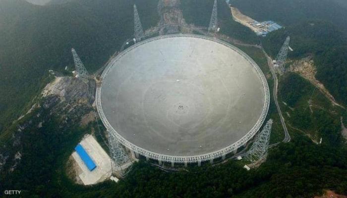 الصين تشغل تلسكوبا عملاقا قطره يعادل 30 ملعبا لكرة القدم