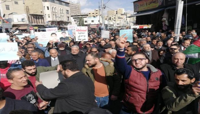 الأردن: مسيرة في عمّان رفضًا لاتفاقية الغاز مع الاحتلال