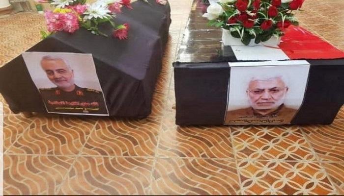 العراق يشيع جثمان قاسم سليماني في بغداد (صور)