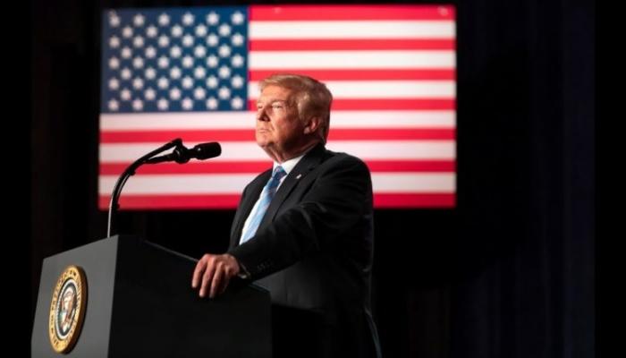ترامب يرسم صورة قاتمة لمستقبل أمريكا في حال فاز بايدن