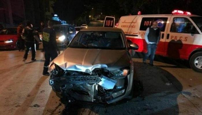 اصابة 4 مواطنين بينهم فتاة في حادث سير غرب بيت لحم