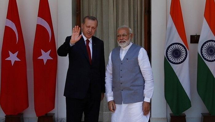 الهند تدعو تركيا إلى عدم التدخل في شؤونها الداخلية