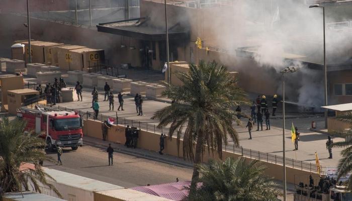 هجوم صاروخي يستهدف السفارة الأمريكية في بغداد