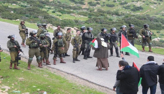 إصابات خلال قمع الاحتلال