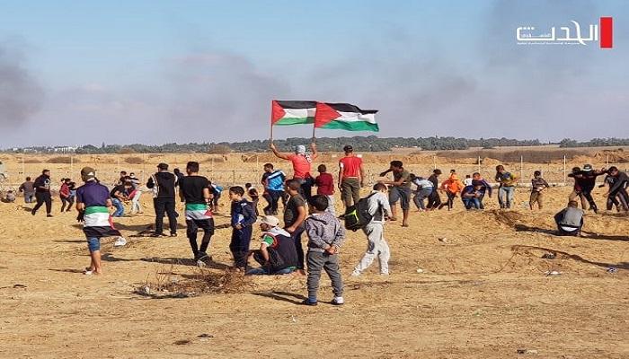استئناف الاحتجاجات قرب الحدود مع غزة نهاية مارس المقبل