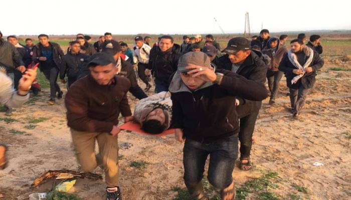 إصابة عنصر من الضبط الميداني شمال قطاع غزة.