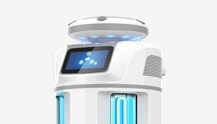 روبوت يحارب فيروس كورونا بالأشعة الفوق البنفسجية