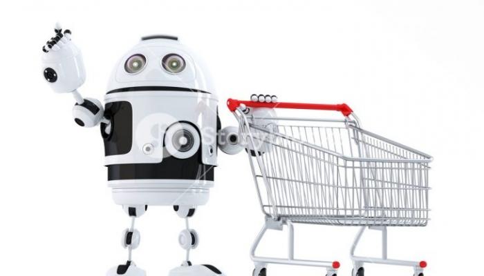 روبوت للتبضع يساعد على احترام التباعد الاجتماعي