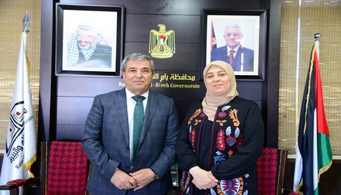 د.غنام تستقبل محمد أبو عوض وتبحث معه تعزيز التعاون المشترك