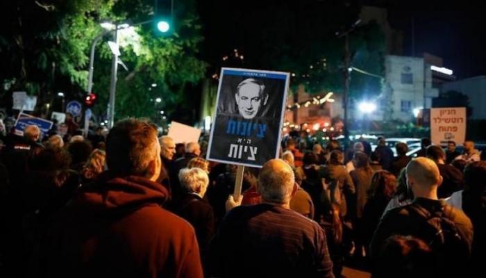 تظاهرات حاشدة ضد نتنياهو في