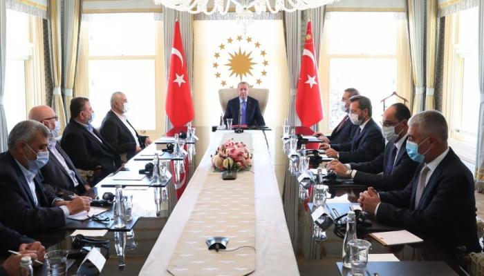تفاصيل لقاء وفد حماس برئاسة هنية مع أردوغان
