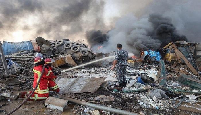 الصحة اللبنانية: ارتفاع عدد الضحايا إلى 70 وأكثر من 3000 جريح بانفجار مرفأ بيروت