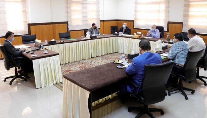 القضاء يناقش مع النيابة العامة تسيير العمل خلال فترة المعايشة مع جائحة كورونا
