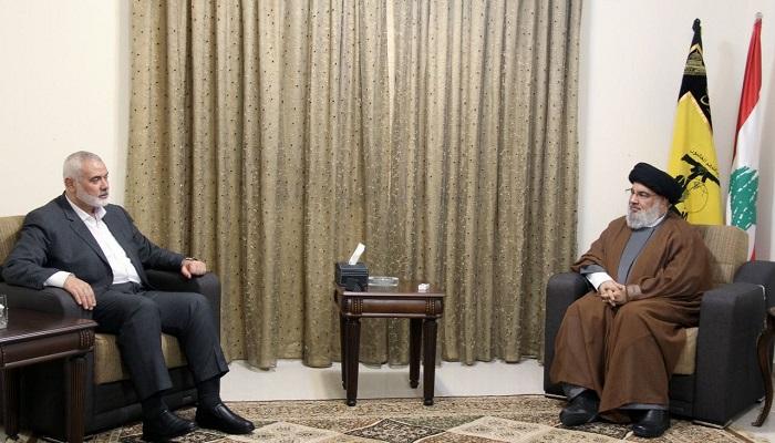 هنية ونصر الله يؤكدان عمق العلاقة القائمة بين حزب الله وحماس