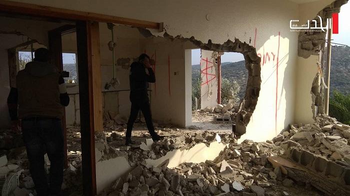 عائلة نعالوة: الحجارة ليست أغلى من دم أشرف.. وهدم المنزل لن يهزنا (فيديو، صور)