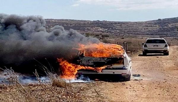 إصابة مواطن وإحراق